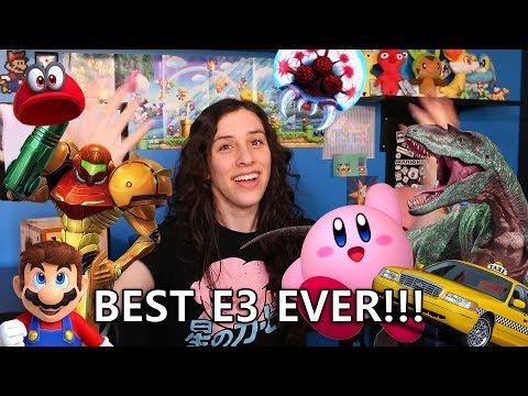 BEST NINTENDO E3 EVER! Reaction to Metroid Prime 4, Kirby 2018, & Super Mario Odyssey!