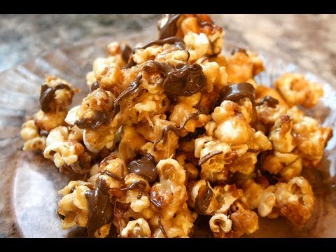 Peanut Butter Chocolate Popcorn recipe - YouTube