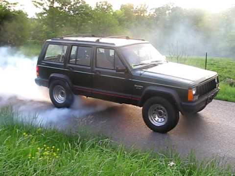 Breadu0027s 1996 Jeep Cherokee Sport 4.0 High Output Burnout