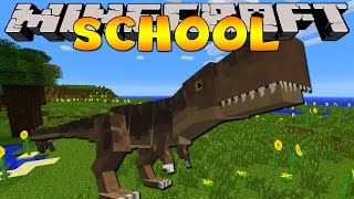 Minecraft School : HOW TO HUNT A T-REX!