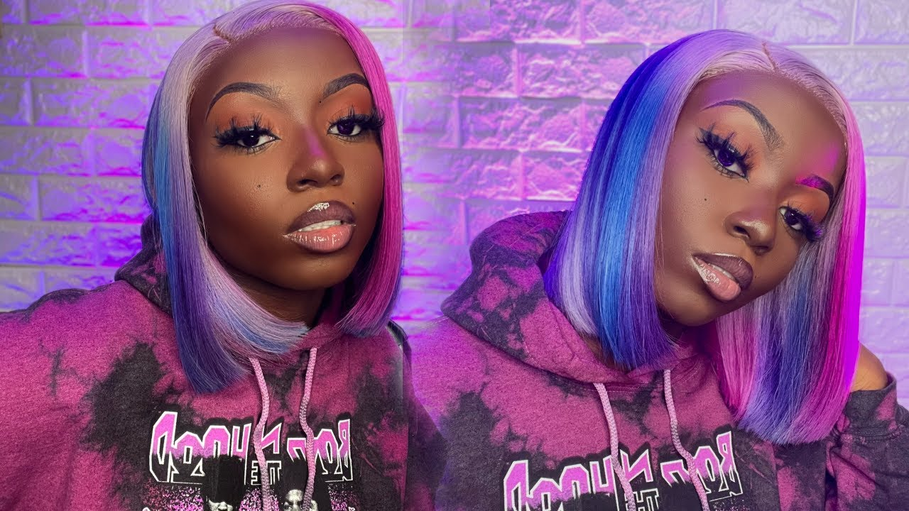 Lavender Hair + Colorful Highlights 🌈   Color + Frontal Wig Install   The Love Series EP 4