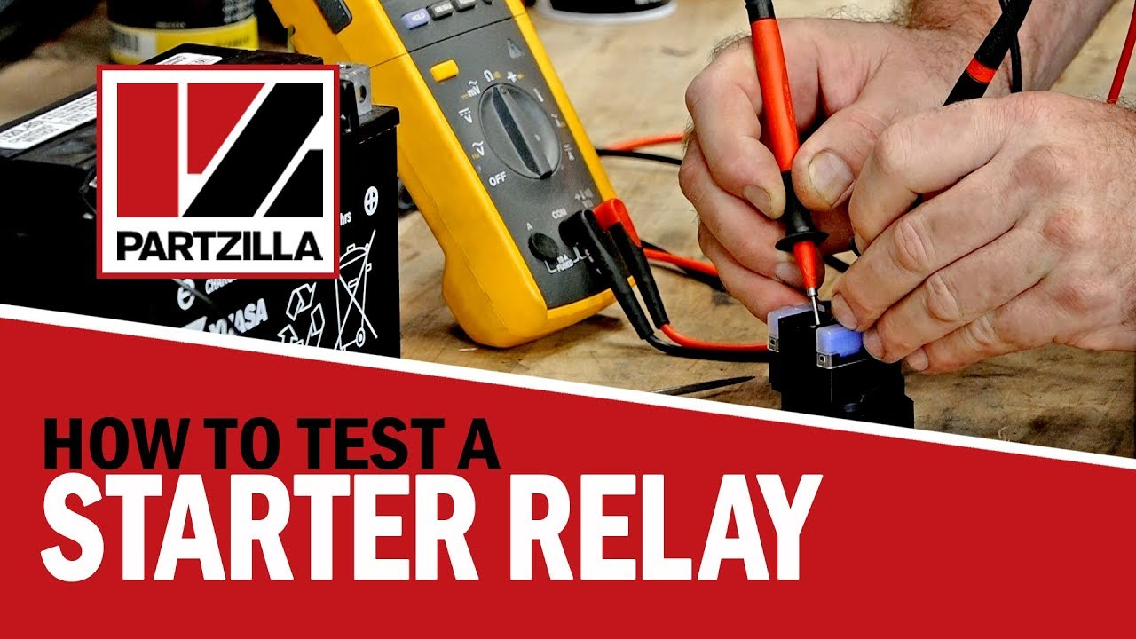 how to test a starter relay on a motorcycle, atv, or utv how to test a starter solenoid