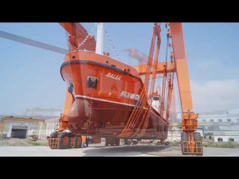 AKDENIZ SHIPYARD NB18 750 DWT MARPOL TANKER LAUNCHING