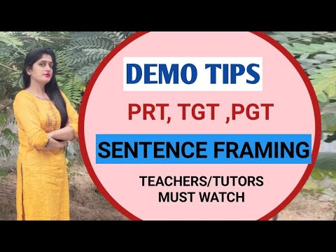 Demo class tips for English teachers || how to teach sentence framing || demo class PGT tgt prt