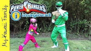 Real Life Power Rangers Mighty Morphin Imaginext TOYS! Yellow Saber Tooth Zord My Kawaii Family