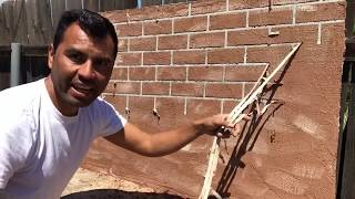 como hacer PARED DE LADRILLO EN MINUTOS / BRICK WALL STAMPS