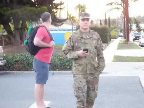 1st Amendment Audit CA National Guard Long Beach: GUARDSMEN OFF THEIR POST HARASSING CIVILIANS