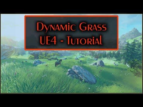 Interactive grass tutorial - Unreal Engine 4
