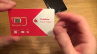 Vodafone Smart Ultra 7 Charger and SIM card Setup