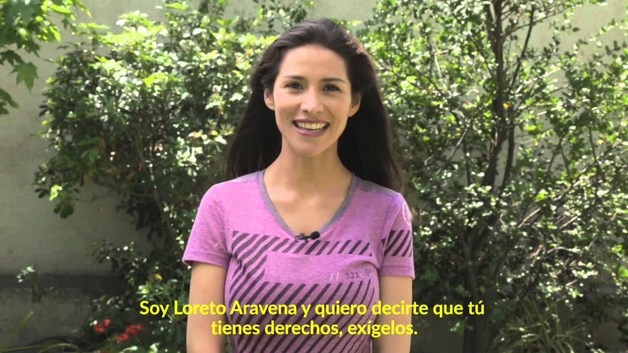 """Loreto Aravena expresa su apoyo a la campaña """"Yo tengo derechos ..."""