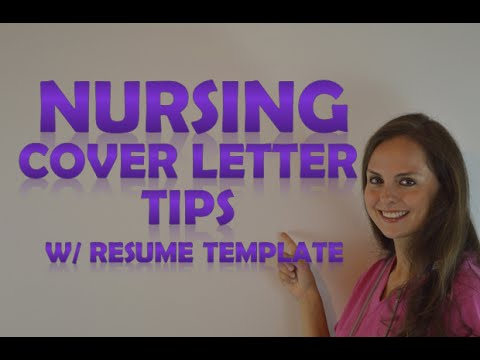 Nursing Cover Letter Tips With A Resume Template How