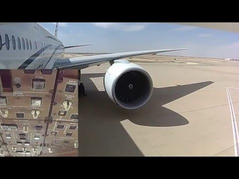Boeing 777-200 Engine Start and Flight Controls Systems Operational Checks