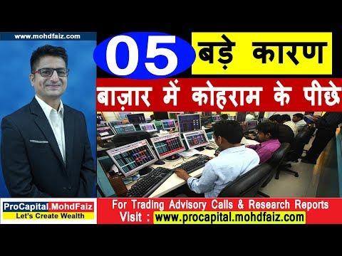 05 बड़े कारण बाज़ार में कोहराम के पीछे |  Latest Share Market Videos