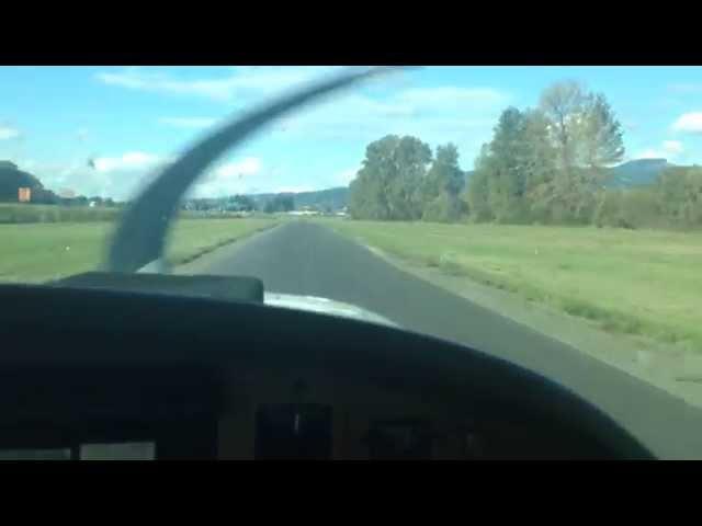 Approach and landing Woodland WA.