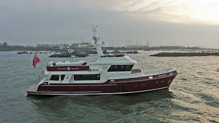 Privateer Trawler 65 | Preview flight movie of the Dutch steel Trawler yacht - Custom built