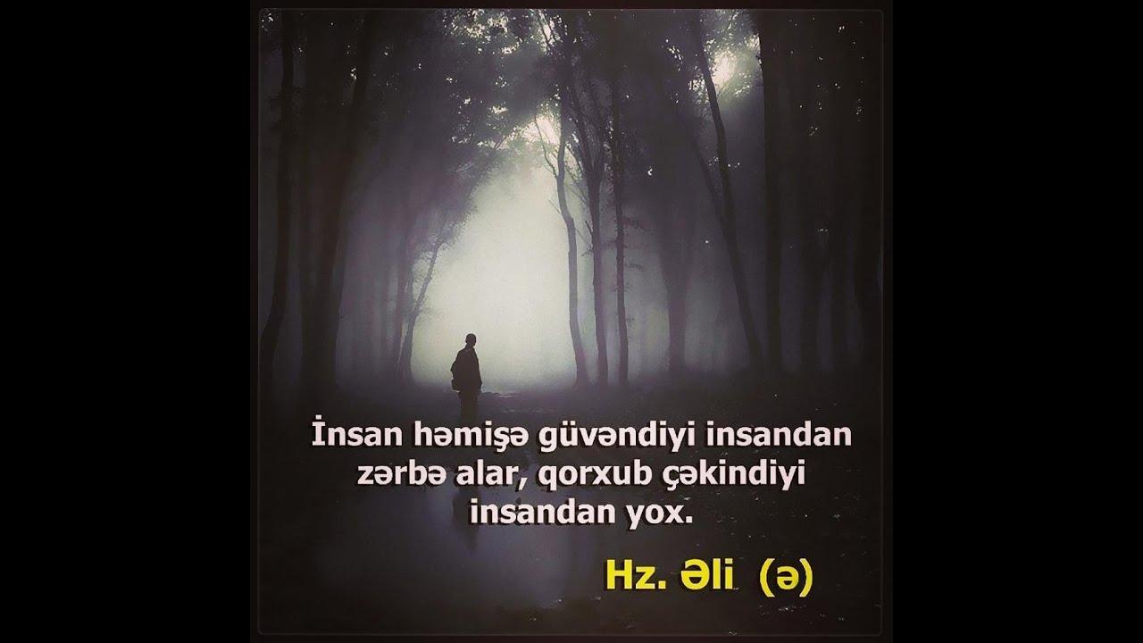 Hz əlinin ə Kəlamlari Dini Statuslar Youtube