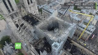 Notre-Dame : les images stupéfiantes des dégâts causés par l'incendie vus par drone