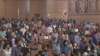 Catholic mass returns at Our Lady of Angels