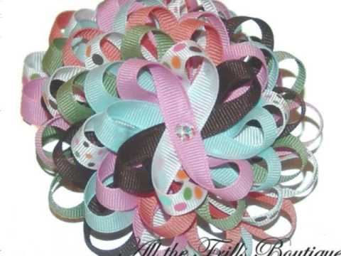 Classic Hair Bow Designs by All the Frills Boutique - YouTube