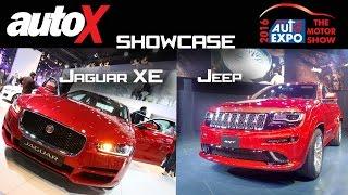 Jaguar XE & Jeep | Showcase | Auto Expo 2016 | autoX