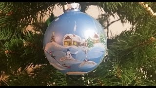 . . Painted Christmas Glass Ornament