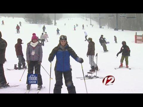 Skiing at Wachusett Mountain