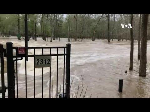 美國密西西比州暴雨引發洪水