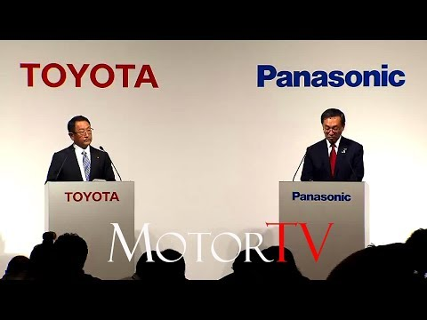 TOYOTA & PANASONIC TEAMING TO STANDARDIZE ELECTRIC CAR BATTERIES l Press Conference (ENG)