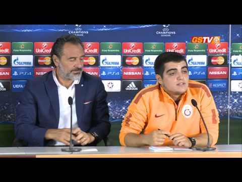 ŞAMPİYONLAR LİGİ | Galatasaray Basın Toplantısı: Cesare Prandelli & Aurelien Chedjou