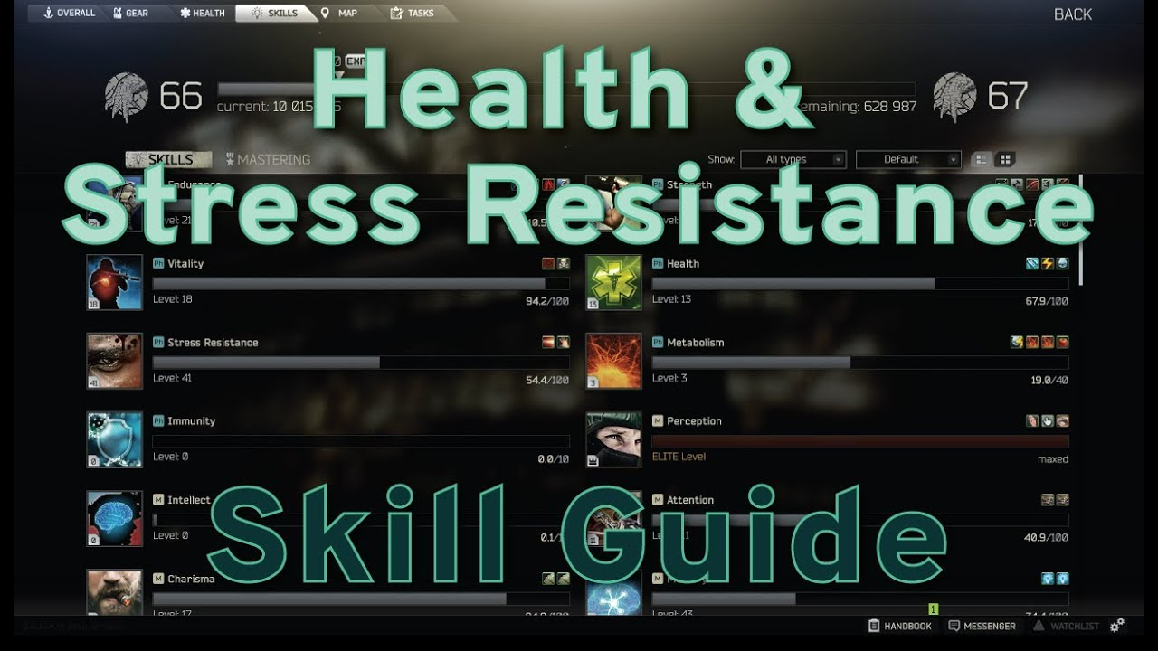 Health and Stress Resistance Skill Guide - Escape from Tarkov