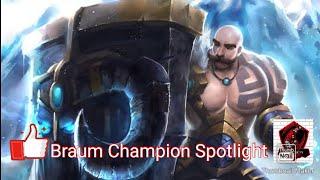 League of Legends Wildrift Alpha Test Braum Champion Spotlight