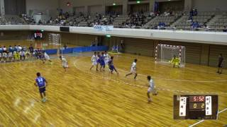 5日 ハンドボール男子 あづま総合体育館 Aコート 静岡西×鹿児島工業 1回戦 1