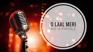 O Laal Meri Pat - Asha Bhosle - KARAOKE With Lyrics || BasserMusic