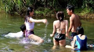 Good Day with Beautiful Girls | Cambodia Family Trip To Thmor Roung Natural Resort