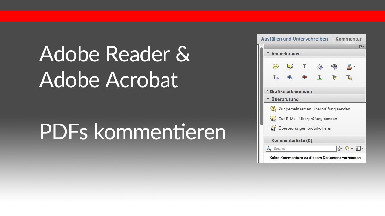Kommentare erstellen mit adobe reader und adobe acrobat