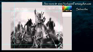 How to Draw - Human Army vs Demons Art Illustration Drawing