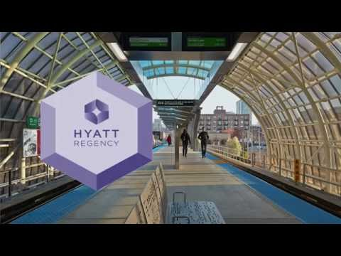 Hyatt Regency McCormick Place: Walking to Cermak-McCormick Place Green Line Station