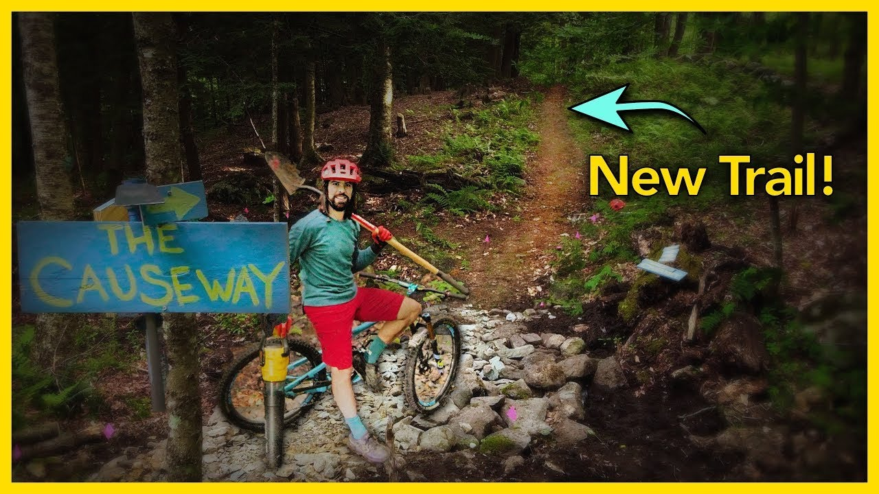 Building The First Trail in Our Backyard Bike Park!