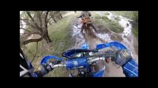 Goulburn riding in mud with kids
