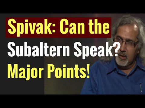 Download Spivak: Major Points in Can the Subaltern Speak? Postcolonialism Q and A