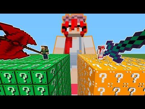 LUCKY BLOCKS VS LILI CROSS | Minecraft Lucky Blocks con Lili