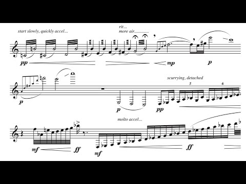 Paws- for bass clarinet solo, by David Bennett Thomas
