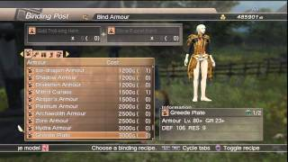 WKC 2 Armor -- Armour (Heavy) Level 20 Complete Binding List White Knight Chronicles II HD