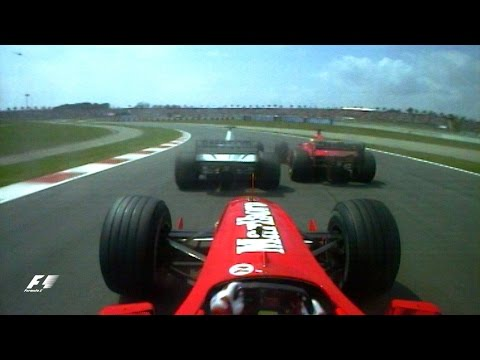 Barrichello Surprises The Schumachers, 2000 Spanish Grand Prix | F1 Classic Onboard