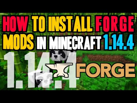 How To Install Mods In Minecraft 1.14.4 - Download And Install Forge 1.14.4 & Mods (on Windows)