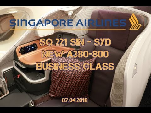 SINGAPORE AIRLINES A380 NEW BUSINESS CLASS FLIGHT REPORT SQ 221