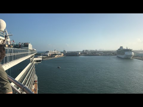 Sailaway from Port Everglades with Royal Princess!