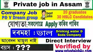 Private Job in Assam 2019 || job in assam in Company, industry, telecom || ITI/HSLC/HS/Graduates/Tec