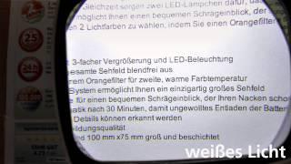 Produktvideo zu Standlupe Eschenbach Visolux +