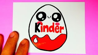 How to Draw KINDER Easter Egg EASY / Cute Drawings - Drawing to Draw